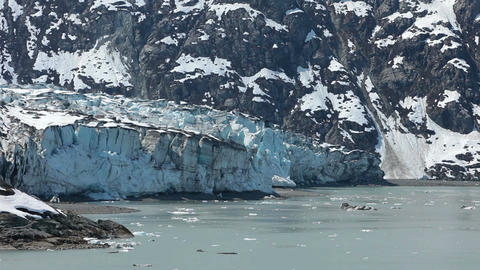 Glacier Bay ice flow glacier retreating global warming HD 1472 Footage