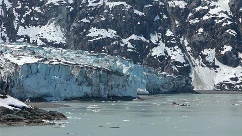Glacier Bay ice flow glacier retreating global warming HD 1472 Footage