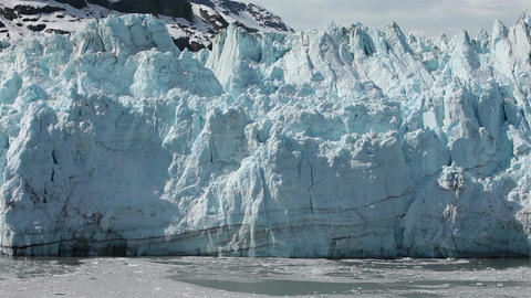 Glacier Bay tidewater Margerie calving into water HD 1407 Footage