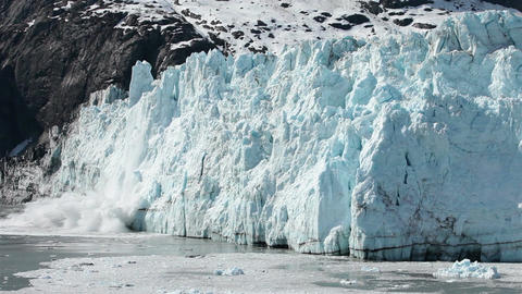 Glacier Bay woman yells as Margerie Glacier calves HD 1409 Footage
