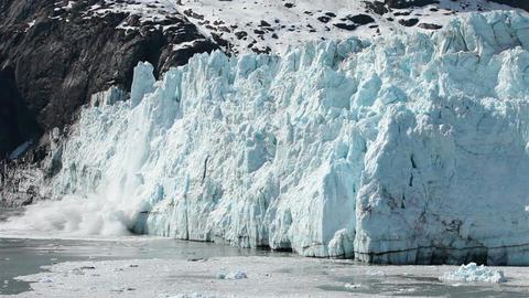 Glacier Bay woman yells as Margerie Glacier calves HD 1409 Footage