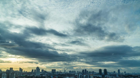 Kuala Lumpur moving cloud time lapse at beautiful cityscape Footage