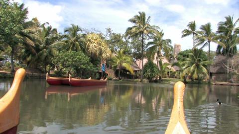Hawaiian tropics canoes vacation tourist Hawaii M HD Live Action
