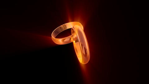 Wedding Rings (symbol of eternal love) Animation