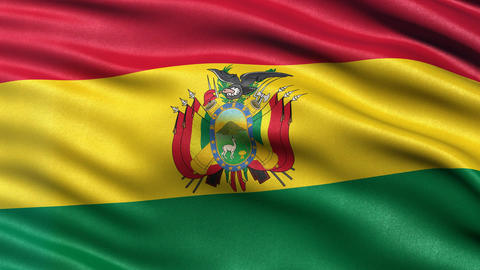 Bolivia flag seamless loop Animation