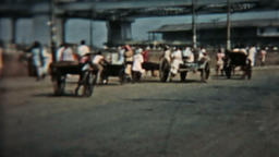 India Circa 1960 Vintage 8mm film busy road HD 0079 Footage