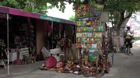 Jamaica Falmouth Caribbean tourist Souvenir shops 4K Footage