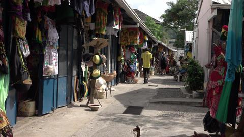 Jamaica Ocho Rios local market shops 4K Footage