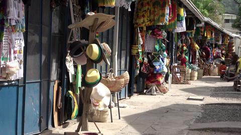Jamaica Ocho Rios local town market shops 4K Footage