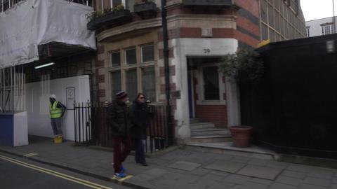 London England traffic POV from bus 4K Footage