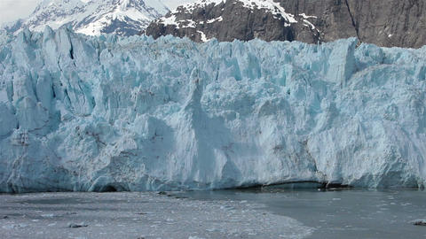 Margerie Glacier at north end Glacier Bay tidewater ice flow HD 1395 Footage