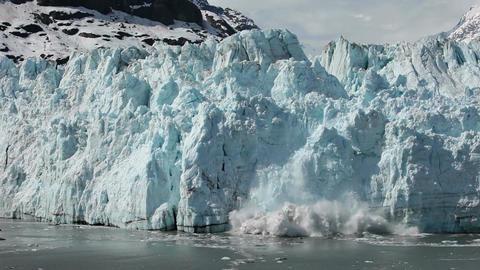 Margerie Glacier tidewater calving Glacier Bay pt 1 HD Footage