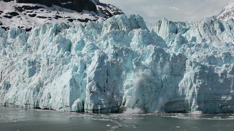Margerie Glacier tidewater calving Glacier Bay slow motion HD 1380 Footage