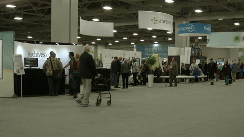 Members of Genealogy organizations conference HD BM 1459 Footage