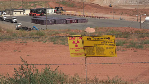 Moab Utah UMTRA radiation uranium contamination cleanup 4K Footage