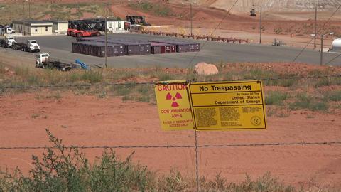 Moab Utah UMTRA radiation uranium contamination cleanup 4K Footage