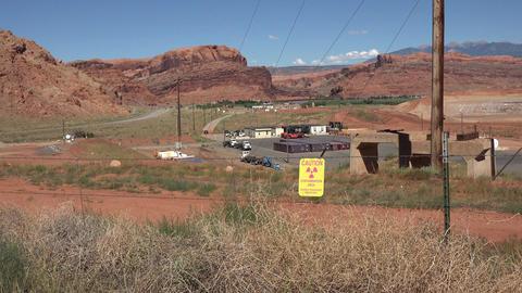 Moab Utah UMTRA uranium contamination cleanup site 4K Footage