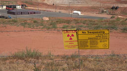 Moab Utah UMTRA uranium radiation contamination cleanup 4K Footage