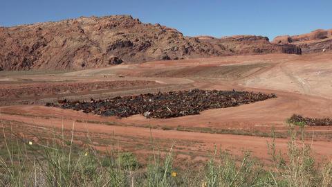 Moab Utah uranium mill building contamination cleanup UMTRA 4K Live Action