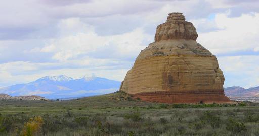 Monticello Utah red sandstone rock landscape formation DCI 4K Footage