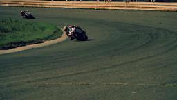 Motorcycle racing HD static video. Moto riders in turn on circuit road track Footage