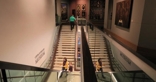 Mormon LDS Church History Museum stairs DCI 4K Live Action