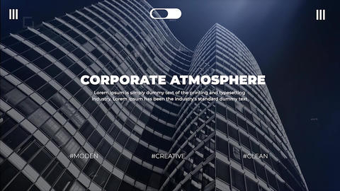 Corporate Ambient Apple Motion Template