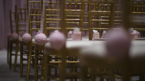Flower decoration, wedding outdoors, wedding decoration.Wedding ceremony Live Action