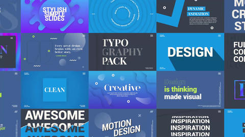 Creative Typography Pack Motion Graphics Template