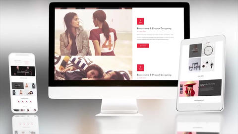 Clean Website Presentation After Effects Template