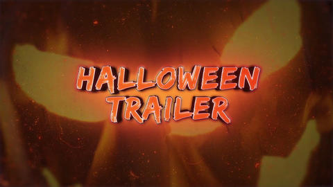 Halloween Trailer After Effects Template