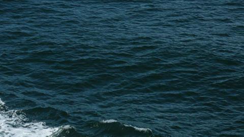 Ocean bow wave wake Pacific Ocean blue water HD 7846 Footage