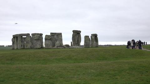 Prehistoric Stonehenge tourism Amesbury England 4K Footage