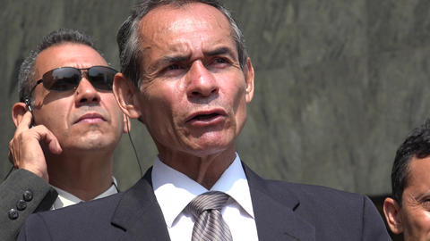 Older Hispanic Politician Speaking Footage