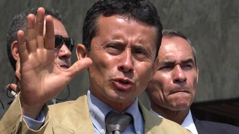 Hispanic Political Leader Speaking Live Action