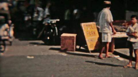 Saigon Vietnam Circa 1960 vintage street market HD 0078 Footage