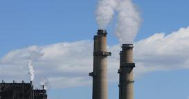 San Juan coal power stacks pollution Farmington New Mexico DCI 4K Footage