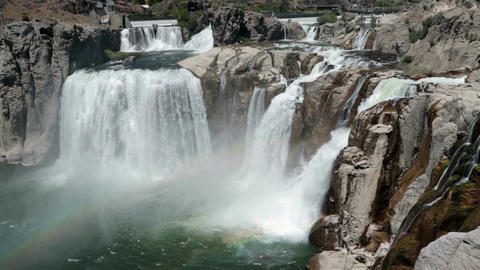 Shoshone Falls Snake River Twin Falls Idaho rainbow HD 8166 Live Action