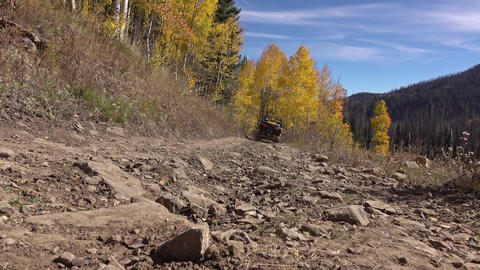 Sport recreation mountain trail 4x4 autumn 4K Live Action