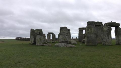 Stonehenge prehistoric monument Amesbury England 4K Footage