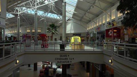 Urban shopping mall business stores 4K 124 Footage