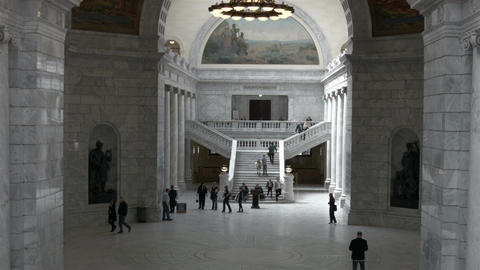 Utah State Capitol Building government people HD BM 1757 ภาพวิดีโอ