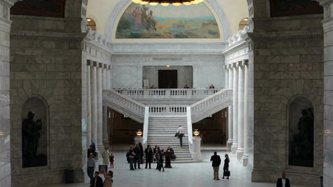 Utah State Capitol political announcement HD 2345 Footage