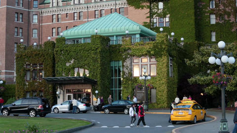 Victoria BC Canada Fairmont Empress Hotel HD 7888 Footage