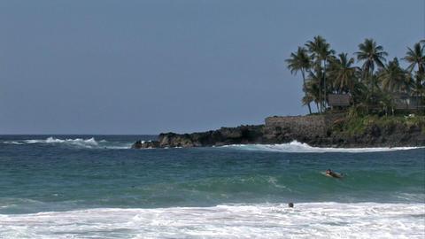 Waimea Bay beach surf Hawaii M HD Footage
