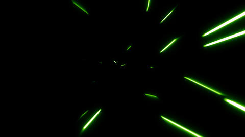 green Particle missile trail loop effect Animation