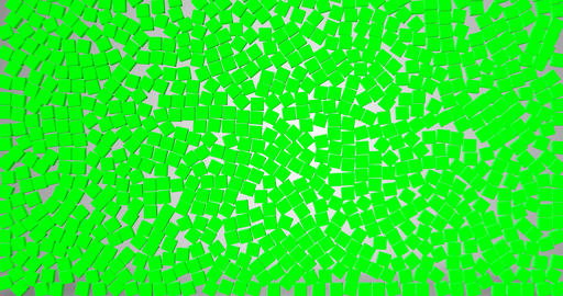 green a lot of green dice cubes symbol falling down on grey gradient screen Live Action