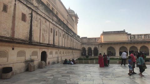 Jaipur, India, November 05, 2019, Amer Fort sunny weather drives tourists into Live Action