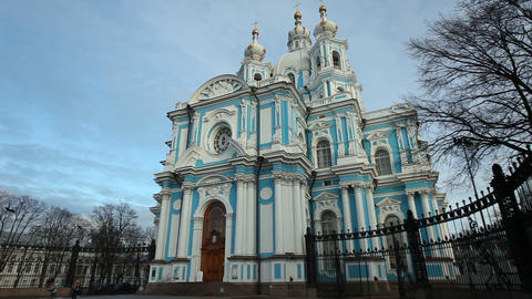 Smolny Cathedral St. Petersburg attraction Live Action