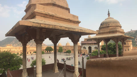 Jaipur, India, November 05, 2019, Amer Fort, architecture solution from the past Live Action